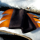 blade cuffs (black/orange)