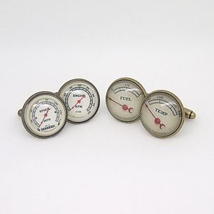 Vintage Style Car Dial Cufflinks