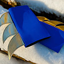 blade cuffs (blue/gold)