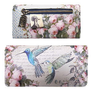 'Hummingbird' Vintage Style Ladies Wallet - bags, purses & wallets
