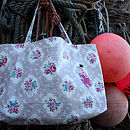 Oilcloth Vintage Inspired Weekend Bag