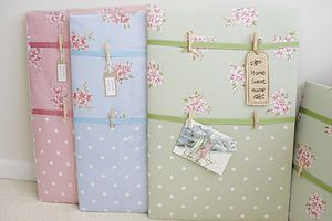 Handmade Large Fabric Memo Board - noticeboards
