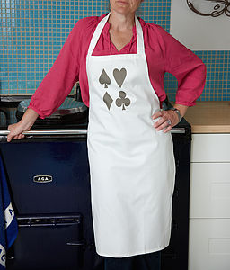 Playing Cards Cotton Apron - kitchen