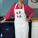 Playing Cards Cotton Apron