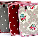 Oilcloth Vintage Inspired Travel Washbags