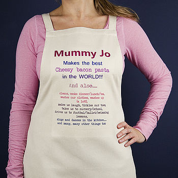 Personalised 'Things You Do' Apron