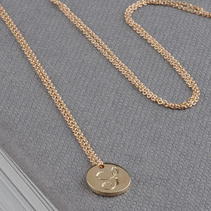 Mini Floral Initial Necklace - necklaces & pendants