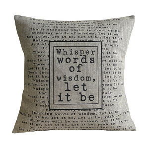 'Let it be' Cushion - bedroom