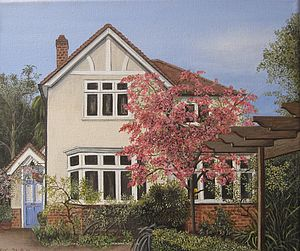 House Portrait Painting - paintings & canvases