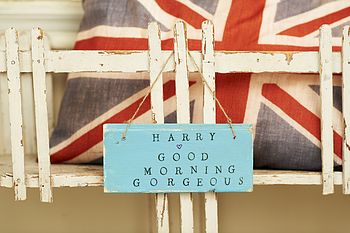 Personalised 'Good Morning' Sign
