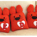 Personalised Knitty Cat- Berry Red
