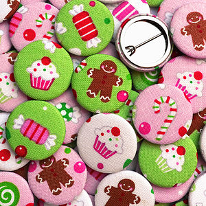 ''Gingerbread'' Christmas Badges - jewellery sale