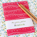 A6 Hearts Bunting Notebook