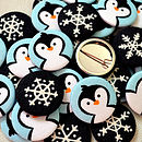 ''Penguin'' Christmas Badges