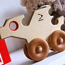 Push Along Wooden Toy Dragon