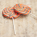 Giant Swirly Halloween Lollipops
