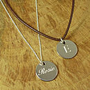 Personalised Silver Name Pendant