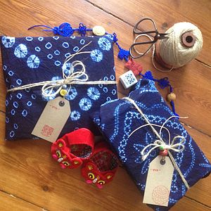 Indigo Cloth Wrapping Set - wrapping paper