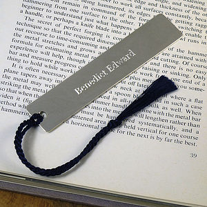 Personalised Silver Bookmark With Tassel - shop by occasion