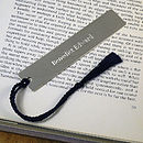 personalised silver bookmark.