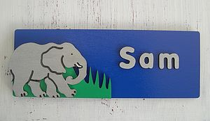 Personalised 3D Elephant Door Plaque