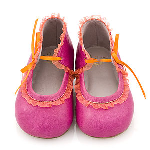 Children's Shoes With Ruffle Detail