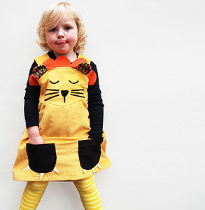 Girls Lion Dress Up Costume And Mane - fancy dress