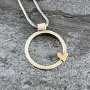 Heart Of Gold Silver And Gold Necklace