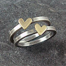 Handmade Heart Of Gold Ring, Silver And Gold