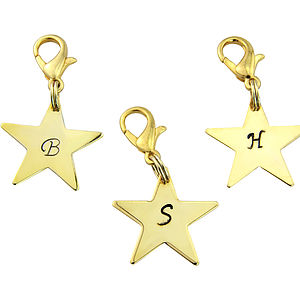 Personalised Gold Star Charm - women's accessories