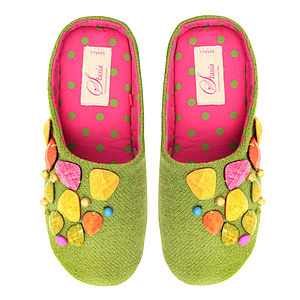 Clementine Bright Beaded Slippers RRP £29.99