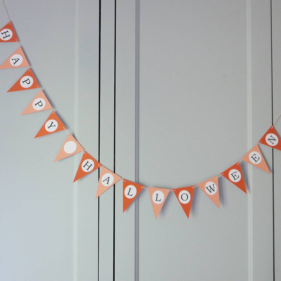 Halloween Bunting pumpkin halloween bunting flag Halloween Bunting By Daisyley Designs Notonthehighstreetcom