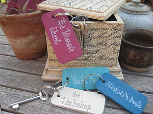 Personalised Wooden Key Ring - men's accessories