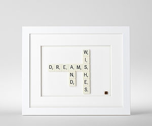 Dreams And Wishes Scrabble Art