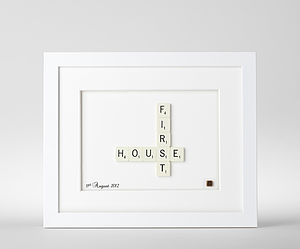 First House Scrabble Art