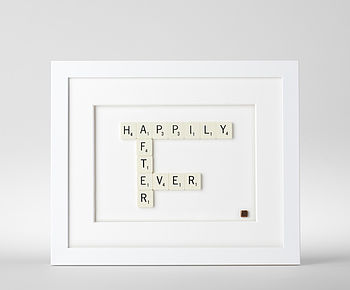 Happily Ever After Scrabble Art