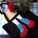 Black Ruby Slippers Tote Bag