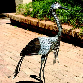 Demoiselle Crane Garden Sculpture