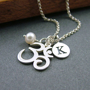 Personalised Sterling Silver Ohm Necklace - charm jewellery