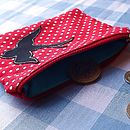 Red Spotty Swallow Purse