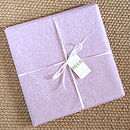 girls christening picture gift wrapped