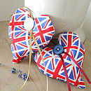 Handmade Union Jack Heart Shape Lavender Bag