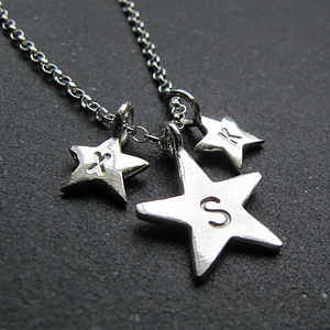 Silver Star Necklace - baby & child