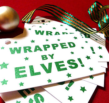 Elf Gift Tags In Two Designs