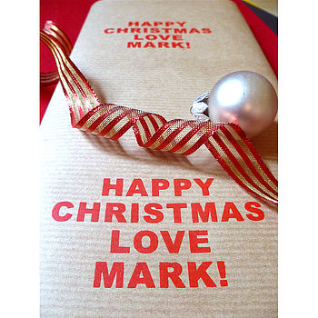 Screen Printed Personalised Wrapping Paper