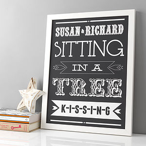Personalised Couples Love Print - home accessories