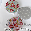 Vintage Floral Patterned Magnets Or Badges