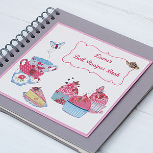 Personalised Teacups And Cupcakes Recipe Book - shop by room