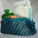 Silk Dotty Baby Nappy Bag