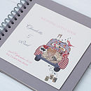 Personalised Vintage Car Wedding Guest Book